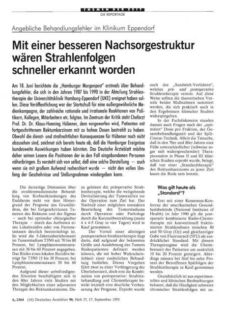Angebliche Behandlungsfehler im Klinikum Eppendorf