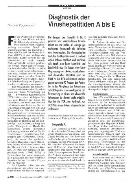 Diagnostik der Virushepatitiden A bis E