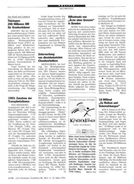 """Hilfseinsatz von ,,Ärzte ohne Grenzen"""" in Bosnien"""