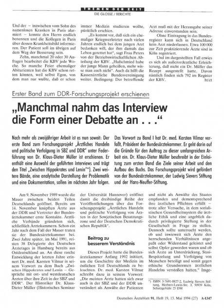 Erster Band zum DDR-Forschungsprojekt erschienen