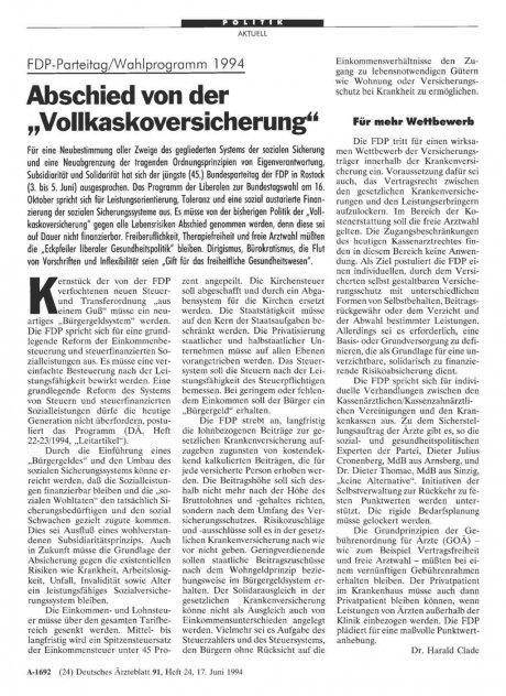 FDP-Parteitag/Wahlprogramm 1994