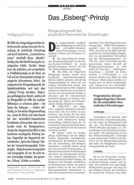 """Das """"Eisberg""""-Prinzip"""