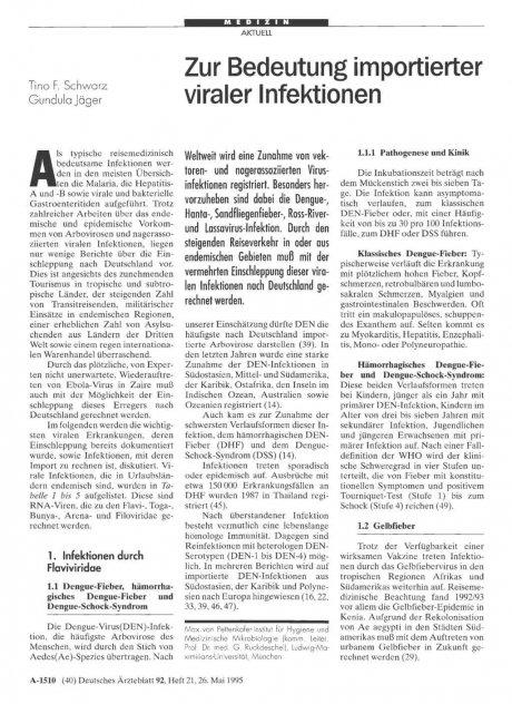 Zur Bedeutung importierter viraler Infektionen