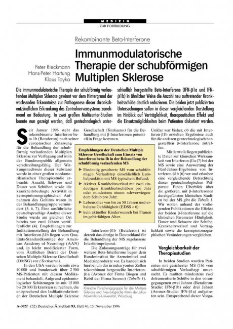 Rekombinante Beta-Interferone