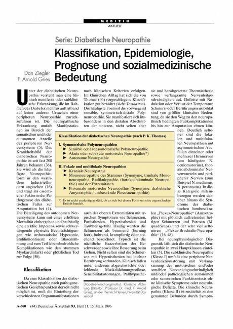 Serie – Diabetische Neuropathie