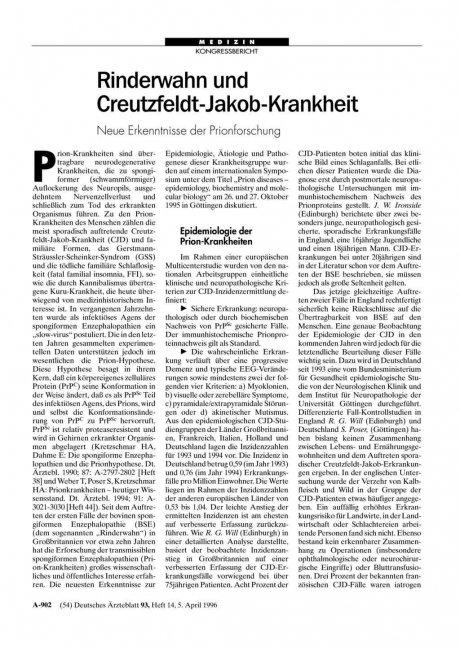 Rinderwahn und Creutzfeldt-Jakob-Krankheit: Neue Erkenntnisse der Prionforschung