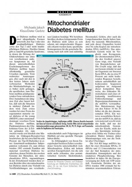 Mitochondrialer: Diabetes mellitus