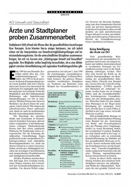 Stellenausschreibungen im Deutschen Ärzteblatt